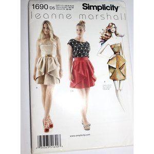 UNCUT Simplicity 1690 pattern dress skirt top